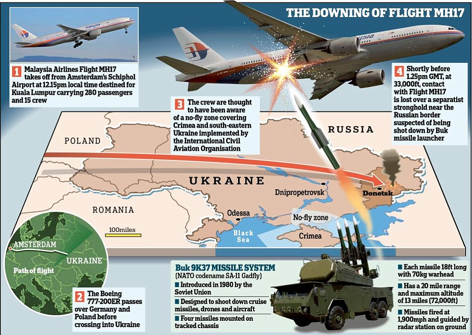 Image result for MH17: Buk missile system from Russia