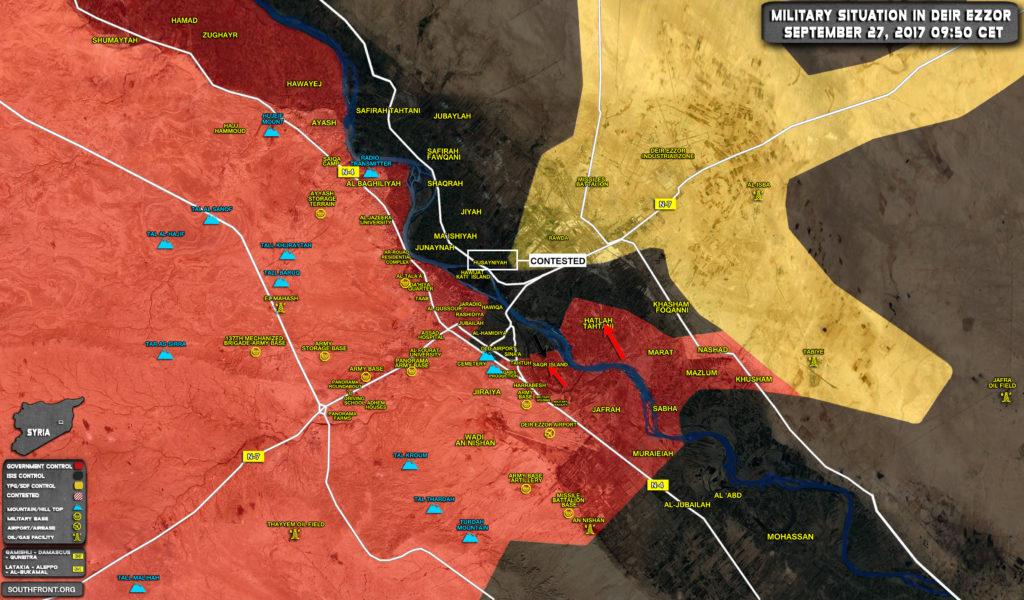 combats deir ezzor syrie