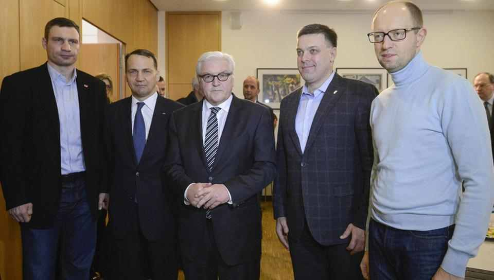 With Germany's Foreign Minister Steinmeier