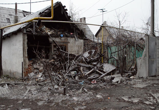 Kyivsky, a micro-district about 10 minutes outside of Donetsk's centre, has been heavily damaged by incoming Ukrainian bombings