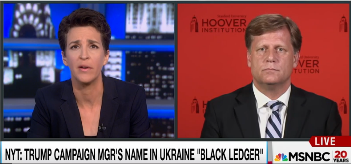 Rachel Maddow (8/15/16) talking with former ambassador to Russia Michael McFaul.