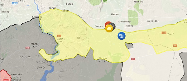 Tell Abyad is nowhere near ISIS' access to Turkey