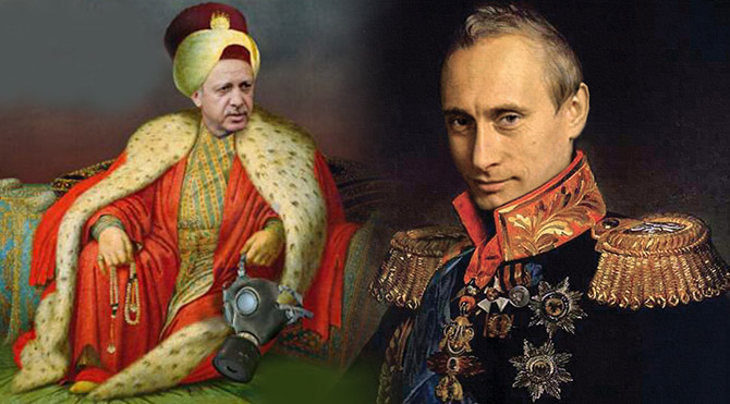 Russia and Turkey Putin-erdogan-car-sultan-670