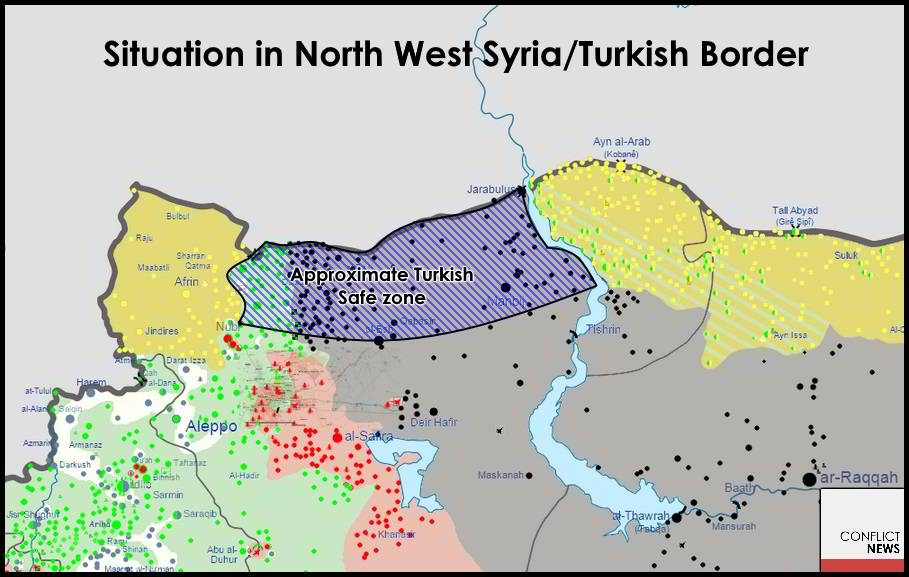 Turkish occupation zone in Northern Syria has been its long-stated ambition