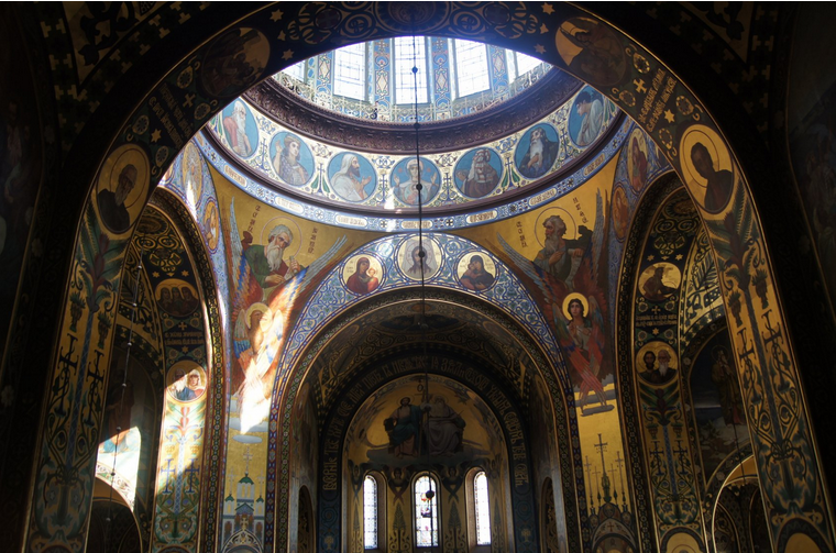 Before and after the amazing restoration of russia 39 s for Church mural restoration