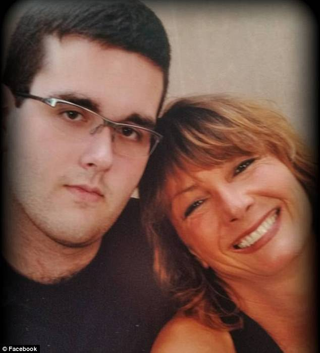 The defendant, James Fields, with his mother