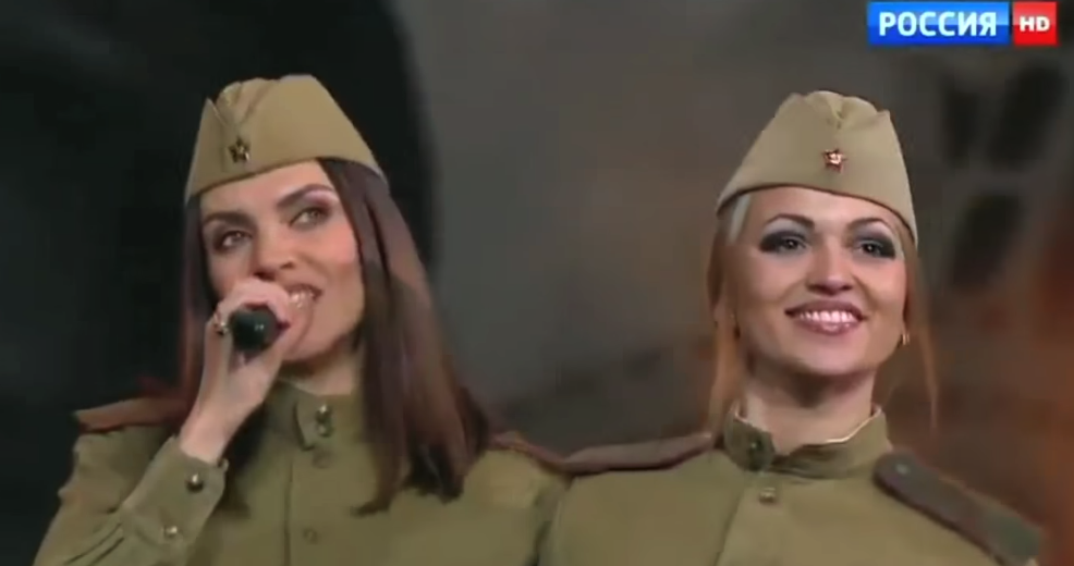 Stunning Russian Folk Singers in Retro Uniforms Perform