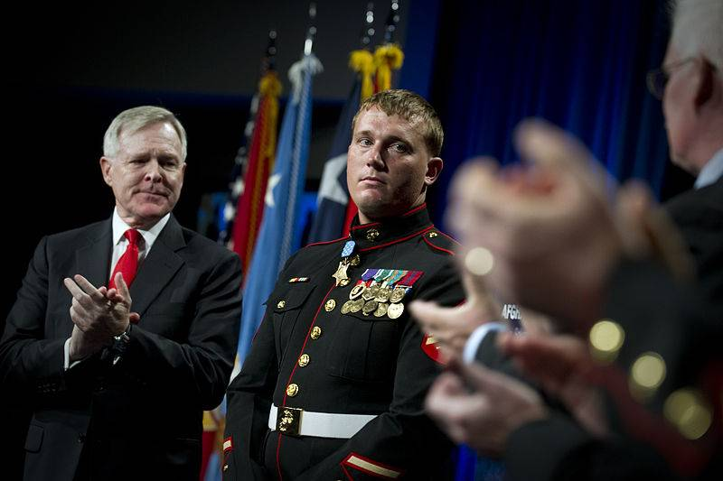 Medal of Honor recipient former Marine Corps Sgt. Dakota Meyer (CC)