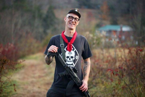 This charming fellow, Dwayne Dixon, a hard-core Antifa, threatened Fields with a military-grade assault rifle shortly before he crashed into the crowd.