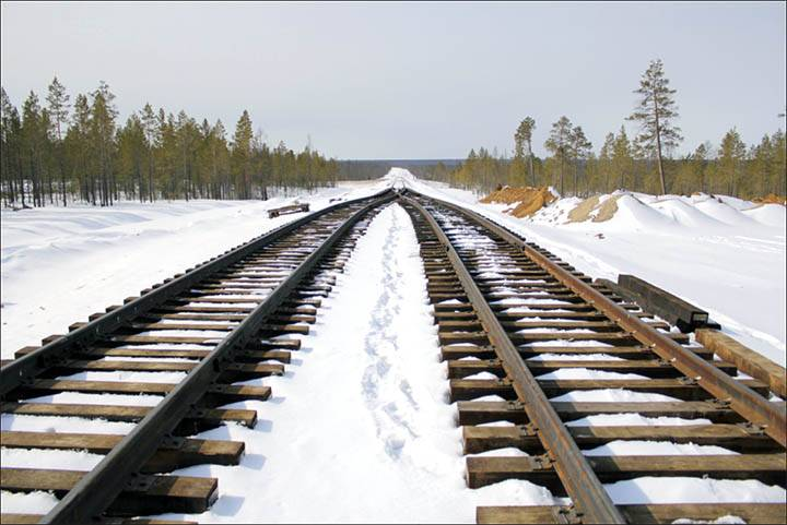 'Basing on the new technology of high-speed rail transport we can build a new railway near the Trans-Siberian Railway with the opportunity to go to Chukotka and Bering Strait'. Pictures: kdavia.ru, Russian Railways, Krugobaikalskaya, Ministry of Transport