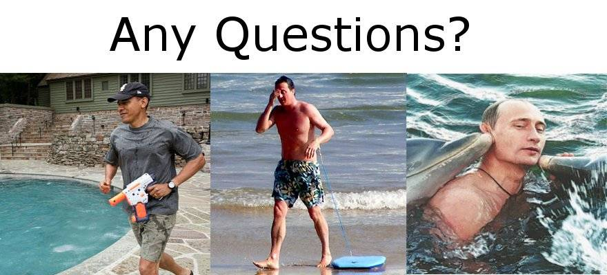 Who looks more at home in the manhood waters?
