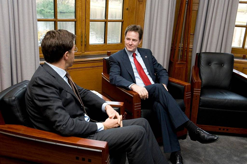 I will not even get into the body language of Nick Clegg with the Prime Minister of the Netherlands Mark Rutte