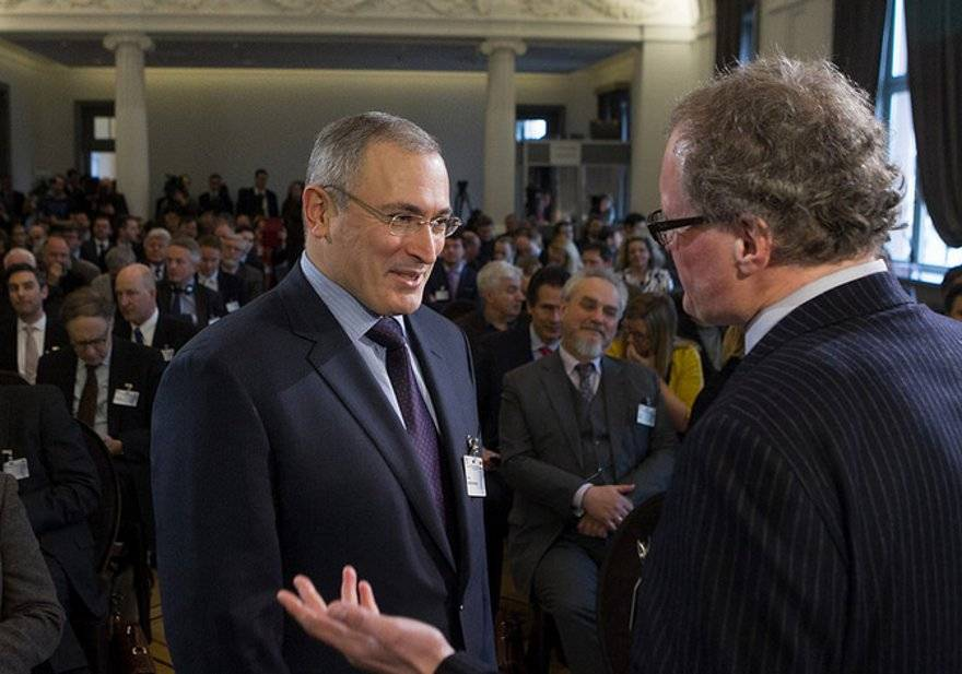 Khodorkovsky at a joint event of the Snow Meeting and the Vilnius Forum of Intellectuals (Lithuanian Foreign Ministry)