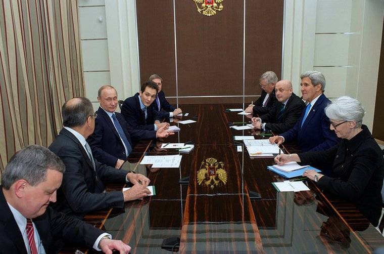 A winning look from Vladimir Putin at the bilateral meeting with Secretary Kerry in Sochi