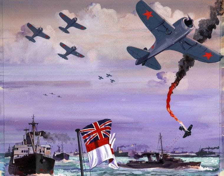 A section of a A British wartime poster about the Arctic convoys (CC)