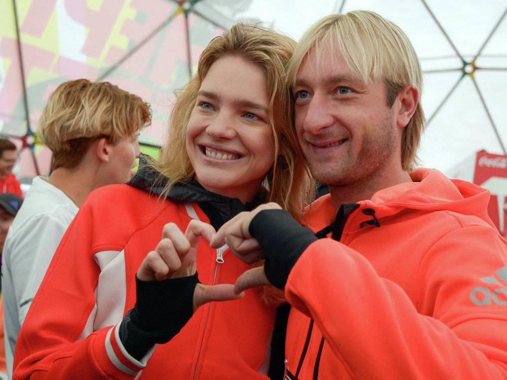 Vodyanova and Evgeny Plushenko