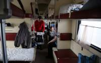 Displaced families from Debaltseve and surrounding areas moved to Sloviansk, Ukraine, to escape the violence and now live in a railway car at Sloviansk railway station | Photo: Abeer Etefa, WFP