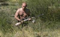 Vladimir Putin, relaxing