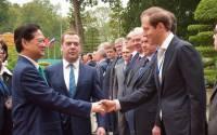Minister of industry and trade Denis Manturov arrives (Dmitry Astakhov/TASS)