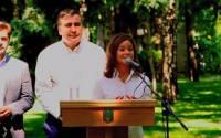 Нарочно не придумаешь: губернатор Одесской области Михаил Саакашвили и вице-губернатор Мария Гайдар