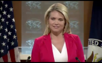 """Heather """"freedom of the press"""" Nauert. Formerly employed as a Barbie bimbo on Fox News"""