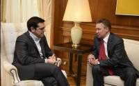 Greek Prime Minister Tsipras meeting with Gazprom CEO Alexey Miller in Athens