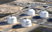This Corpus Christie LNG facility has contracts to ship liquefied natural gas to Europe. It's the only one.