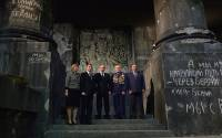 At the Battle for Berlin – The Banner Bearers' Feat panorama. Far right: Chief of Staff of the Presidential Executive Office Sergei Ivanov (Kremlin)