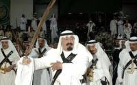 This is the only Saudi-related sword photo we could find that doesn't include a severed wizard head