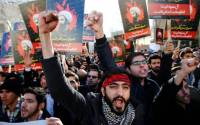 Iranians stormed the Saudi embassy in Tehran on Sunday
