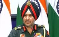 Lt Gen Ranbir Singh addressing the media