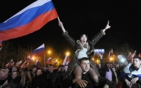 Angry mobs in Occupied Crimea
