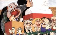 Верный ленинец и марксисты-ленинцы | Рисунок Александра Зиновьева. Из семейного архива
