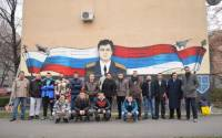 The murals shown here are from the Serbian city of Novi Sad and they have been made in remembrance of Lt. Colonel Oleg Anatolyevich Peshkov, the Russian airman shot down by the Turks over Syria.