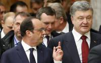 France's President Francois Hollande and Ukraine's President Petro Poroshenko