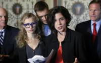 Members of the Pussy Riot address U.S. lawmakers after being convicted of hooliganism in Russia. Demonstrators and now dancers have been charged with the same offense in Russia since Pussy Riot stopped making headlines | Photo: Reuters, Jonathan Ernst