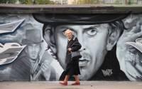 Street Art: Rodion Raskolnikov in Saint Petersburg, Russia
