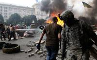 ARCHIVE PHOTO: Burning car tires set on fire on Independence Square (Maidan) in Kiev by Maidan activists protesting the removal of barricades and a tent camp from the square | Photo: Alexandr Maksimenko, RIA Novosti