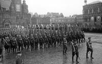 The Victory Parade held in Moscow's Red Square on June 24, 1945 to mark the defeat of Nazi Germany in World War II, which lasted from 1939 until 1945.