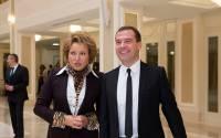 Valentina Matvienko with PM Dmitry Medvedev (Совет Федерации)