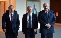 Kazakhstan's Nursultan Nazarbayev last month with President Putin and Belarus' Alexander Lukashenko (Kremlin)
