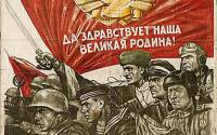 """""""We greet you, our great homeland!"""" """"Friendship between the peoples of our country has endured all the hardships and experiences of the war and has been further cemented by the united struggle of all Soviet people against the Fascist invaders""""."""