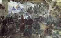 Осада Троице-Сергиевой Лавры поляками в 1610 году. Картина Сергея Милорадовича