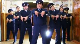 Deep In Russia's Siberia Police Show off Dance Moves to Rival PSY