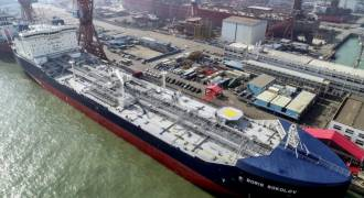 Ice-Breaking LNG Tankers Make the First Voyage Through Russia's Arctic Passage in Winter