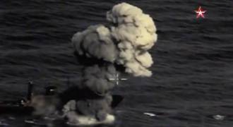 Russia Releases Footage of New Anti-Ship Missiles Pounding Warships