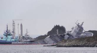 NATO's Trident Juncture Drill Takes Its Toll: Frigate Hit by Tanker Runs Aground to Prevent Sinking