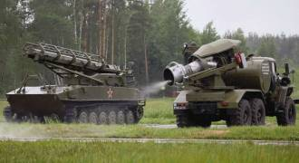 Slavic Science: Russia Uses These Crazy Antique Jet Engine-Equipped Trucks to Blast Away Chemical Agents