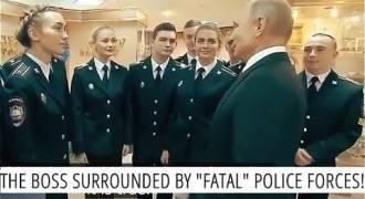 Putin Chats Up Beautiful Russian Police Academy Grads (Russian TV News)
