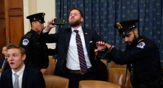 Alex Jones' Co-Anchor Owen Shroyer Disrupts Impeachment Hearings, Gets Arrested